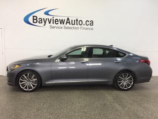 Used 2015 Hyundai Genesis ULTIMATE- AWD|5L|PANOROOF|HTD LTHR|NAV|REV CAM! for sale in Belleville, ON