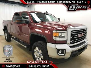 Used 2015 GMC Sierra 2500 HD SLE-Heated Leather Bench, 6.0L V8 for sale in Lethbridge, AB