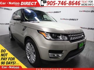 Used 2017 Land Rover Range Rover Sport Td6 HSE| DIESEL| LOW KM'S| PANO ROOF| for sale in Burlington, ON