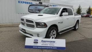 Used 2014 Dodge Ram 1500 Sport 4x4 5.7L Hemi Leather, Moon, Navi for sale in Stratford, ON