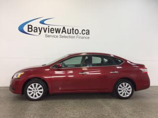 Used 2014 Nissan Sentra S- PUSH BTN STRT|ECO MODE|BLUETOOTH|CRUISE|A/C! for sale in Belleville, ON