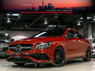 Used 2017 Mercedes-Benz CLA-Class CLA45 AMG VALVETRONIC EXHAUST|NAVI|BLINDSPOT|BRAKE ASSIST|REAR CAM|PANO|LOADED for sale in North York, ON