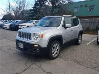 Used 2015 Jeep Renegade Limited SKY POWER SUNROOF, NAVIGATION, LEATHER !! for sale in Concord, ON