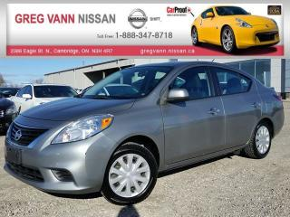 Used 2013 Nissan Versa SV w/keyless,pwr windows,pwr heated mirrors for sale in Cambridge, ON