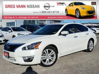 Used 2015 Nissan Altima 3.5 SL w/NAV,all leather,sunroof,heated seats,rear cam,climate,pwr group for sale in Cambridge, ON