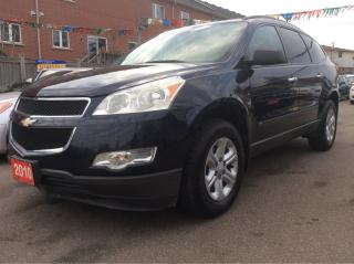Used 2010 Chevrolet Traverse aux,8 seats,4 cylinders,pwr door,win,rear views, for sale in Scarborough, ON