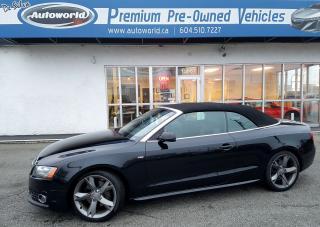 Used 2011 Audi A5 Cabriolet 2.0L S-Line Premium Plus Quattro for sale in Langley, BC