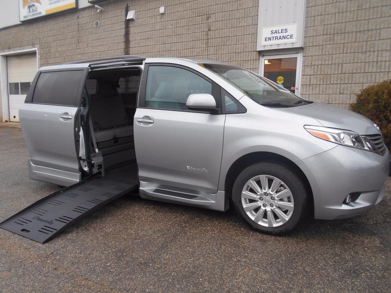 Used 2017 Toyota Sienna XLE Wheelchair Accessible Side Entry Conversion For Sale In London Ontario