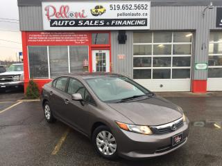 Used 2012 Honda Civic LX AUTO w/ CRUISE + BLUETOOTH for sale in London, ON