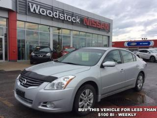 Used 2012 Nissan Altima 2.5 S  -  Power Windows -  Power Doors - $87.06 B/W for sale in Woodstock, ON
