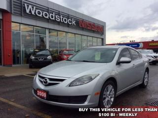 Used 2009 Mazda MAZDA6 GS-I4  - $78.63 B/W for sale in Woodstock, ON