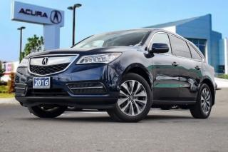 Used 2016 Acura MDX Navi Accident Free| Navigation| Bluetooth| for sale in Thornhill, ON