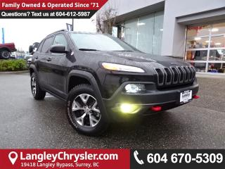 Used 2016 Jeep Cherokee Trailhawk *ACCIDENT FREE * LOCAL BC JEEP * for sale in Surrey, BC