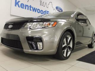 Used 2013 Kia Forte Koup Forte Koup with heated seats and a colour you don't see all that often for sale in Edmonton, AB