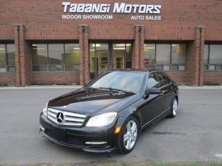 Used 2011 Mercedes-Benz C-Class 4MATIC | NAVIGATION |REAR VIEW CAMERA |LEATHER | SUNROOF | for sale in Mississauga, ON