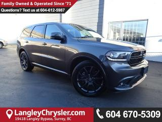 Used 2017 Dodge Durango R/T *ACCIDENT FREE*5.7L V8 AWD*LOCAL BC SUV* for sale in Surrey, BC