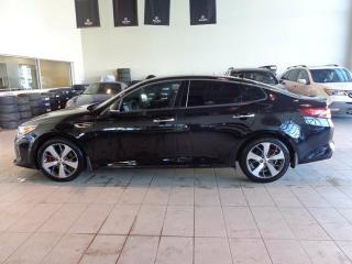 Used 2016 Kia Optima SXL Turbo - Heat+A/C Leather Seats, Heated Wheel, Nav, B/U Cam + Sunroof! for sale in Red Deer, AB