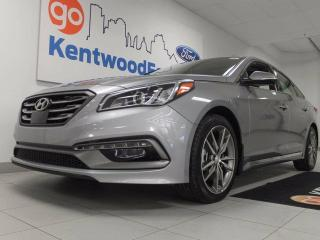Used 2017 Hyundai Sonata 2.0T Sport Ultimate- NAV, sunroof, heated power leather seats front and back, 2.0T, heated steering wheel too for sale in Edmonton, AB