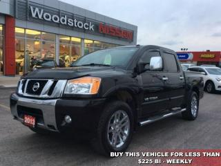 Used 2013 Nissan Titan SL  - Sunroof -  Navigation - $207.83 B/W for sale in Woodstock, ON