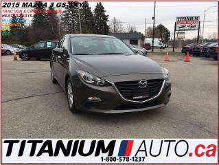 Used 2015 Mazda MAZDA3 GS-SKY+GPS+Camera+Heated Seats+BlueTooth+SkyActive for sale in London, ON