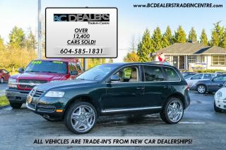 Used 2004 Volkswagen Touareg V8 4x4, 22's Chrome Wheels, Leather, Low Km's! for sale in Surrey, BC