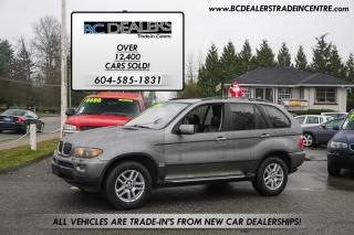 Used 2004 BMW X5 3.0i, Very Clean, Sunroof, Leather, Heated Seats! for sale in Surrey, BC