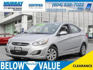 Used 2017 Hyundai Accent GL**BLUETOOTH**HEATED SEATS** for sale in Surrey, BC