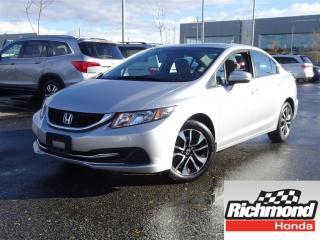 Used 2015 Honda Civic EX! Honda Certified Extended Warranty to 160, 000 for sale in Richmond, BC