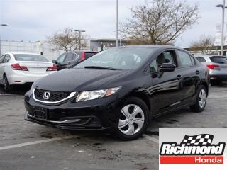 Used 2014 Honda Civic LX! Honda Certified Extended Warranty to 160, 000 for sale in Richmond, BC