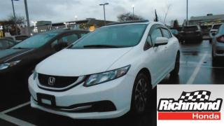Used 2014 Honda Civic EX! Honda Certified Extended Warranty to 160, 000 for sale in Richmond, BC