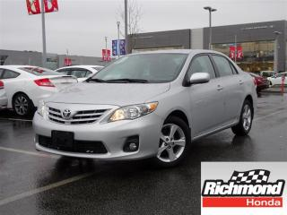 Used 2013 Toyota Corolla LE! Balance of Factory Warranty! for sale in Richmond, BC