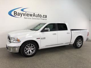 Used 2016 Dodge Ram 1500 LTD- ECODIESEL|AIR RIDE|RAM BOX|HTD/AC LTHR|NAV! for sale in Belleville, ON