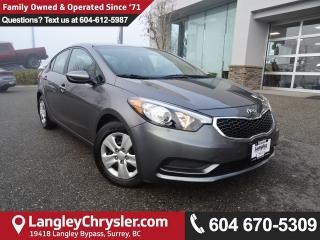 Used 2016 Kia Forte 1.8L LX *ACCIDENT FREE*ONE OWNER*LOCAL BC CAR* for sale in Surrey, BC