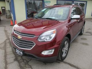 Used 2016 Chevrolet Equinox LOADED LTZ MODEL 5 PASSENGER 2.4L - ECO-TEC.. LEATHER.. HEATED SEATS.. POWER SUNROOF.. NAVIGATION.. BACK-UP CAMERA.. BLUETOOTH.. for sale in Bradford, ON