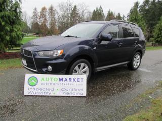 Used 2013 Mitsubishi Outlander 4WD, Leather, Roof, Insp, Warr for sale in Langley, BC