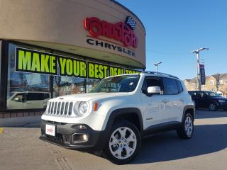 Used 2017 Jeep Renegade Limited NAVI LEATHER 4X4 REAR CAM for sale in Scarborough, ON