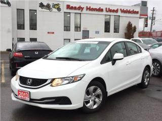 Used 2013 Honda Civic LX  |  2.99% Financing for sale in Mississauga, ON