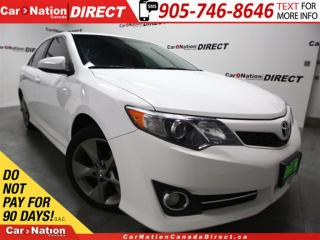 Used 2012 Toyota Camry SE| LEATHER-TRIMMED SEATS| TOUCH SCREEN| for sale in Burlington, ON