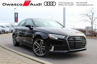 Used 2017 Audi A3 quattro Progressiv w/ Rearview Camera for sale in Whitby, ON