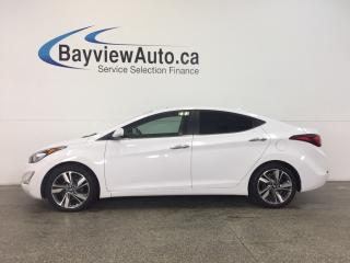 Used 2016 Hyundai Elantra LTD- ALLOYS|SUNROOF|HTD LTHR|REV CAM|DUAL CLIMATE! for sale in Belleville, ON