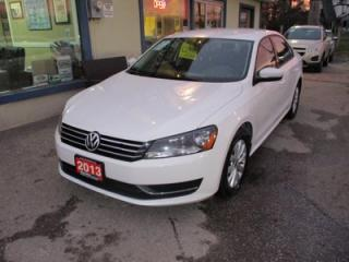 Used 2013 Volkswagen Passat POWER EQUIPPED 'SPORTY' 5 PASSENGER 2.5L - DOHC.. HEATED SEATS.. HEATED MIRRORS.. CD/AUX INPUT.. KEYLESS ENTRY.. for sale in Bradford, ON