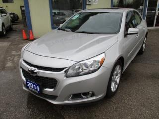 Used 2014 Chevrolet Malibu LOADED 1-LT MODEL 5 PASSENGER 2.5L - ECO-TEC.. LEATHER TRIM.. TOUCH SCREEN.. BACK-UP CAMERA.. CD/AUX/USB INPUT.. for sale in Bradford, ON