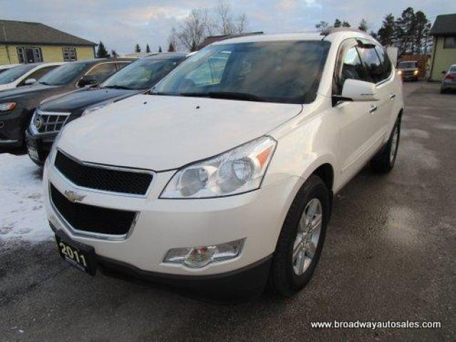 2011 Chevrolet Traverse ALL-WHEEL DRIVE 2-LT MODEL 7 PASSENGER 3.6L - V6.. SLIDING CAPTAINS.. THIRD ROW.. LEATHER.. HEATED SEATS.. DUAL SUNROOF.. BACK-UP CAMERA.. BOSE..