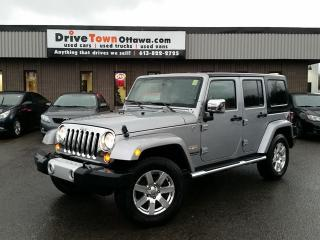 Used 2013 Jeep Wrangler Unlimited SAHARA UNLIMITED **LEATHER/NAV/AUTOMATIC** NICE!! for sale in Gloucester, ON