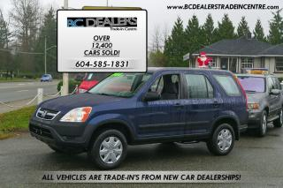Used 2003 Honda CR-V LX AWD, Local, No Accidents, Very Clean! for sale in Surrey, BC