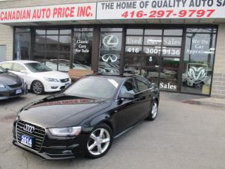 Used 2014 Audi A4 2.0T Progressiv-QUATRO-6 SPEED-NAVIG-LTHER-ROOF-S for sale in Scarborough, ON