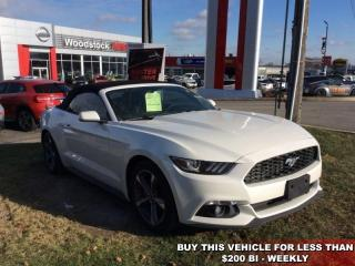 Used 2017 Ford Mustang V6  - Bluetooth - $188.91 B/W for sale in Woodstock, ON