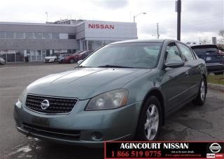 Used 2005 Nissan Altima 4Dr Sedan 2.5 SL at Leather  AS-IS SUPER SAVER  for sale in Scarborough, ON