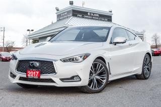 Used 2017 Infiniti Q60 CLEAN CARPROOF  MULTI VIEW  FORWARD COLLISION  for sale in Mississauga, ON