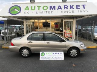 Used 2003 Mitsubishi Lancer ES AUTO A/C FINANCE ALL CREDIT TYPE'S! for sale in Langley, BC